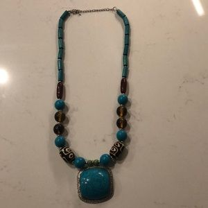 Chico's Turquoise and Bead Necklace